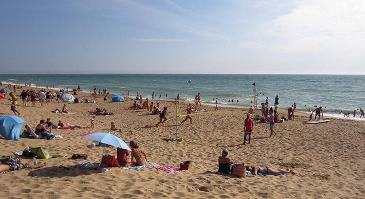 La Terriere naturist beach in France
