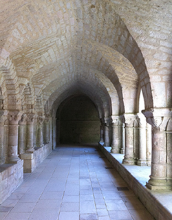 The Abbaye Royale Saint-Vincent Cloisters