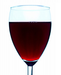 Glass of Vendéen Red Wine