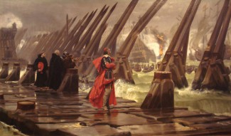 Siege of La Rochelle by Henri Motte 1881