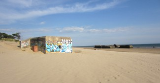 One of the beaches in Charente Maritime with a bunker