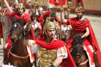 Roman Soldier at Puy du Fou