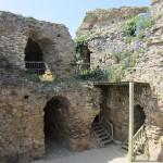 Inside the Château de Talmont castle ruins