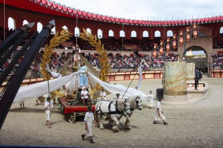 Victory parade at Puy du Fou