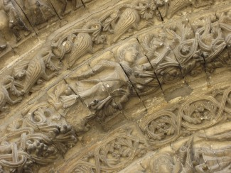 Abbaye aux Dames - detail of facade